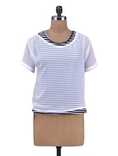 White Poly Georgette Plain Top - By