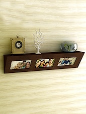 Brown MDF Photo Frame Wall Shelf - By