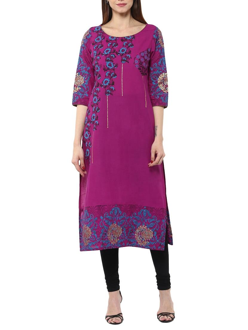 9 Best Purple Kurta Designs For Ladies And Gents Styles
