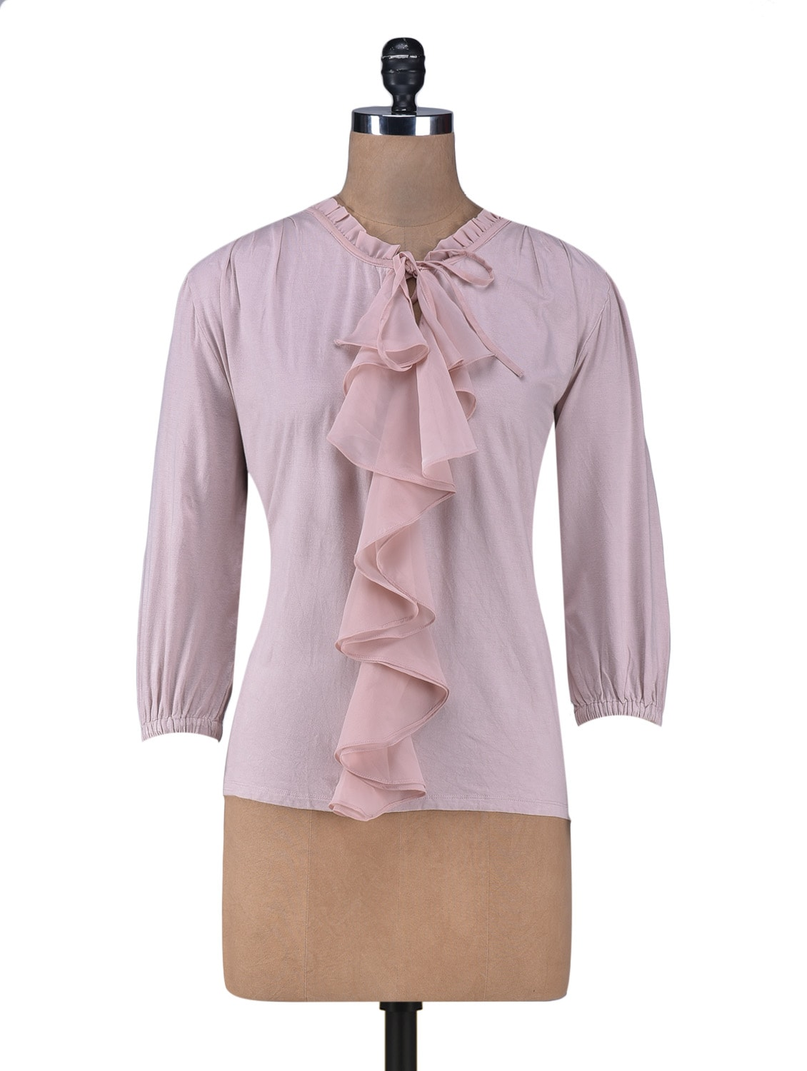 Pink Ruffled Blouse - By