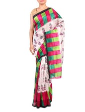 Multicolor Printed Bhagalpuri Silk Saree - By - 1247562
