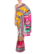 Multicolor Printed Bhagalpuri Silk Saree - By - 1247566