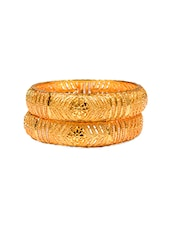 Orignal Look Gold bangle set of 2 -  online shopping for Bangles