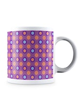 Multicolor Geometric Seamless Dots Pattern Ceramic Mug - By