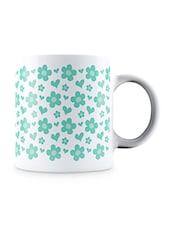 Multicolor Heart And Petal Pattern Set Vector Pattern Ceramic Mug - By