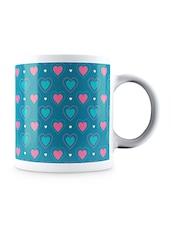 Multicolor Valentines Hearts Pattern Ceramic Mug - By