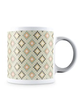Multicolor Home Work Art Design Pattern Ceramic Mug - By