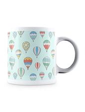 Multicolor Air Balloons Pattern Ceramic Mug - By