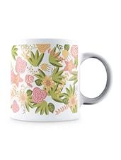 Multicolor Floral Wedding Design Pattern Ceramic Mug - By