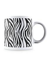 Black Zebra Animal Pattern Style Ceramic Mug - By