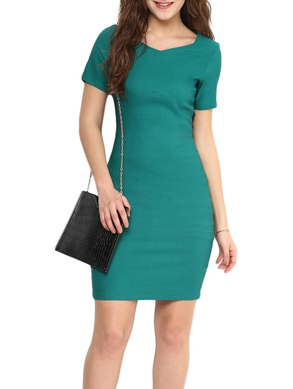 24cfc12d94e9 Buy Green Cotton Bodycon Dress by Uptownie Lite - Online shopping for Dresses  in India