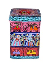 Multicolor Painted Stainless Steel Canister - By