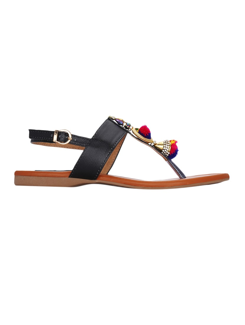 ad53004aa20e38 Buy Black Back Strap Sandal by Kielz - Online shopping for Sandals in India