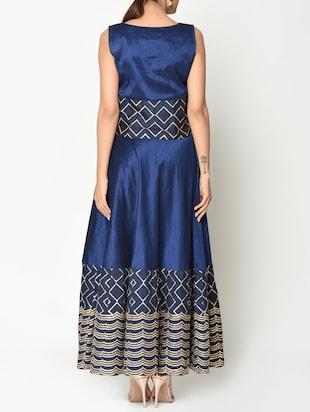 48907f58cb3d Buy Dark Blue Top And Maxi Skirt Set for Women from Truebrowns for ₹3999 at  0% off | 2019 Limeroad.com