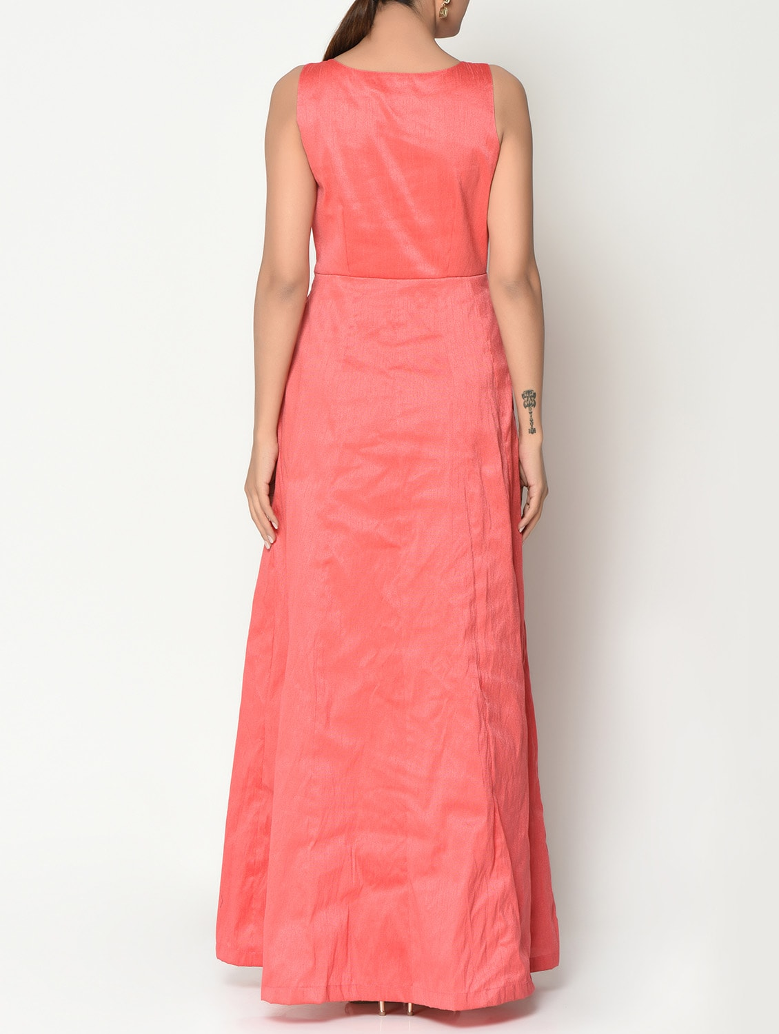 649a7768f90bf Buy Coral Pink Solid Maxi Dress for Women from Truebrowns for ₹1487 at 47%  off | 2019 Limeroad.com