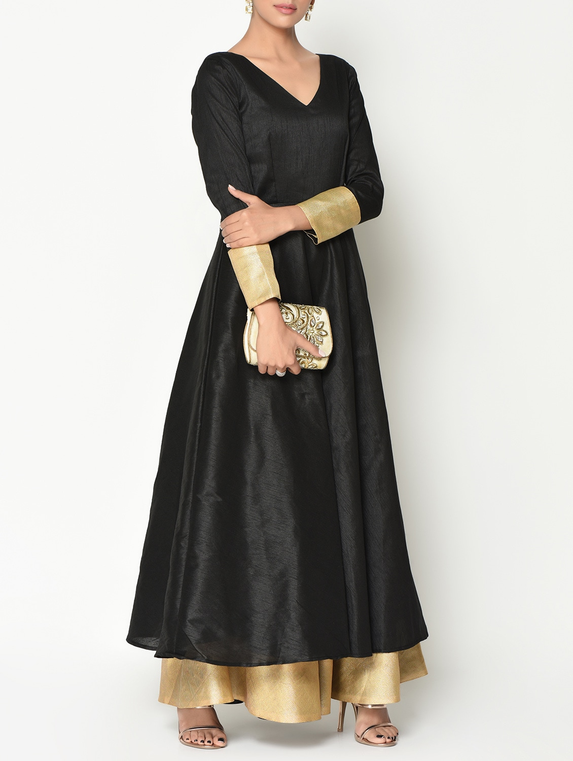 86267e5f1a Buy Black Silk Blend Maxi Dress for Women from Truebrowns for ₹3869 at 10%  off