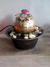 Copper Lady Bug Fountain With LED Light - By