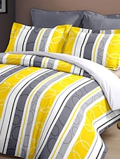 Dreamscape 140TC 100% Cotton Yellow Geometric Double bedsheet set -  online shopping for bed sheet sets