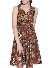 brown cotton dress -  online shopping for Dresses