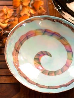 Blue And Purple Spiral Plate - Murano, The Glassical Symphonies