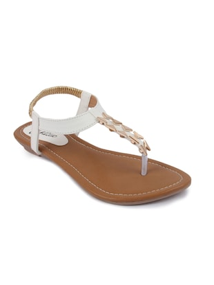 944141f00a3e Buy White Rubber Back Strap Sandals for Women from Finesse Again for ₹832  at 51% off