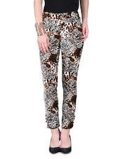 Multicolor Velvet Printed Jeggings - By
