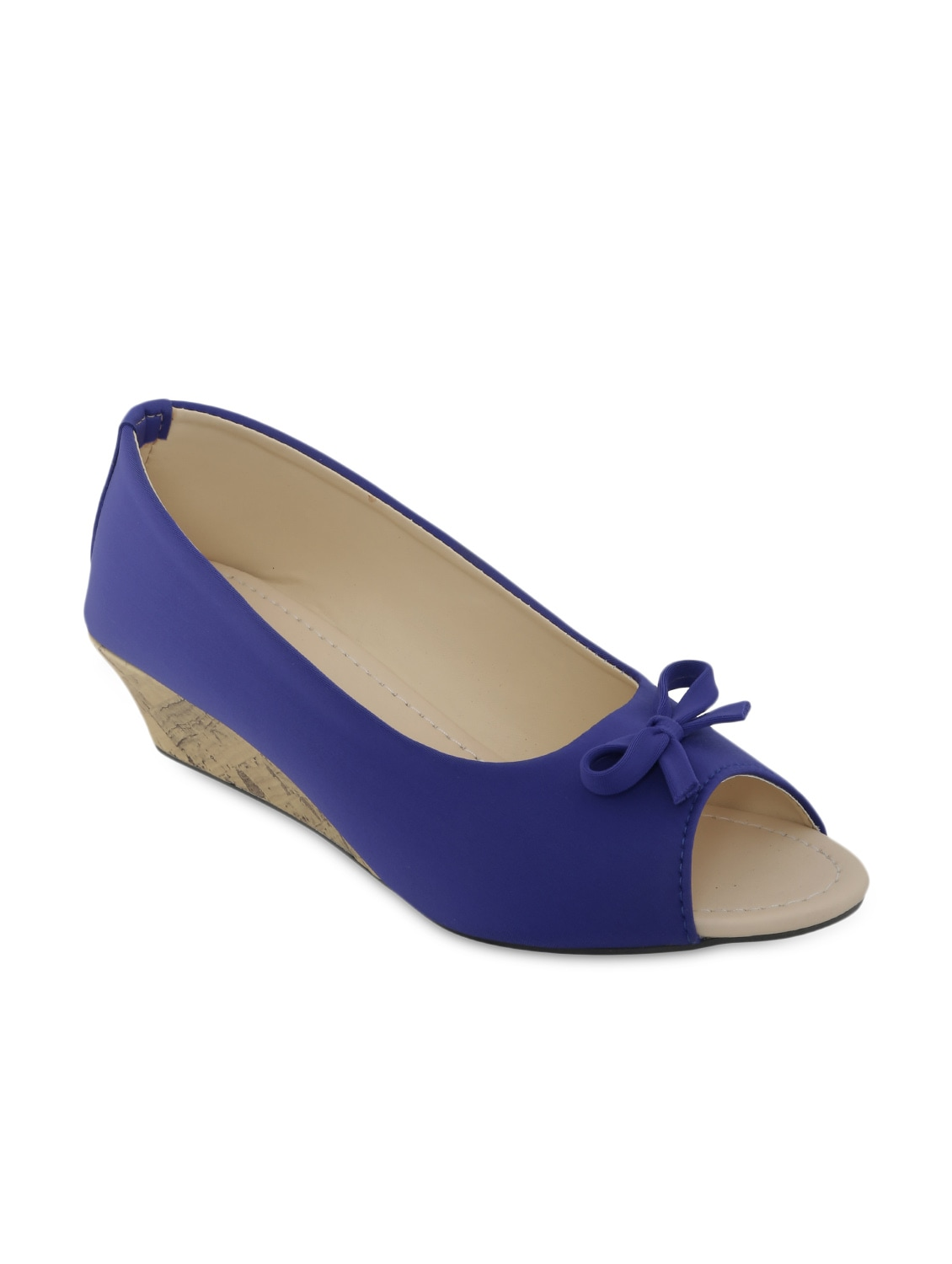 f43b563dedf Buy Blue Peep-toe Wedges by Zachho - Online shopping for Wedges in India