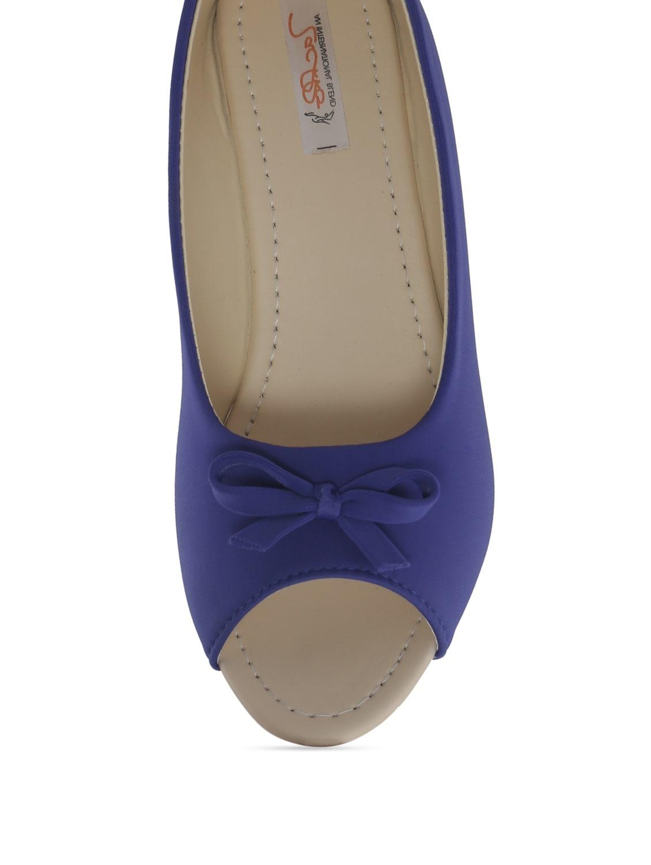 e140de4b09b Buy Blue Peep-toe Wedges by Zachho - Online shopping for Wedges in ...