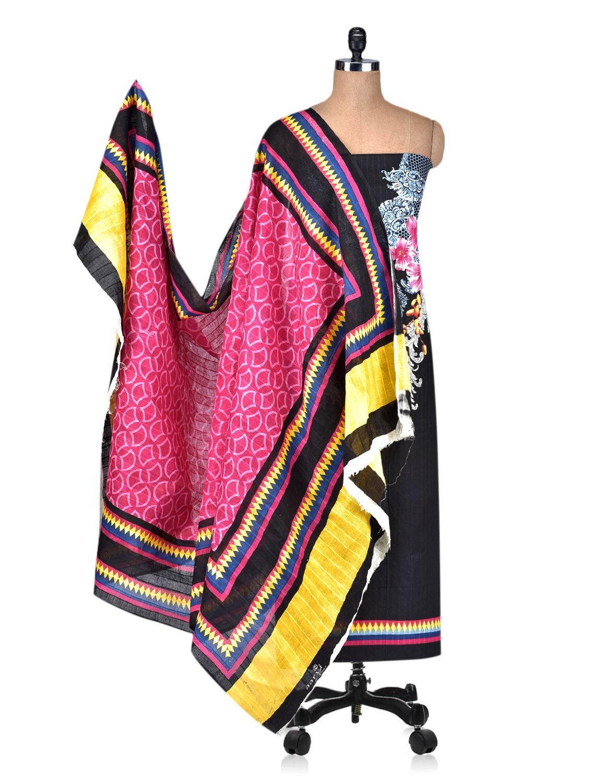 8169d24258 Multicolored Printed Unstitched Cotton Suit Piece