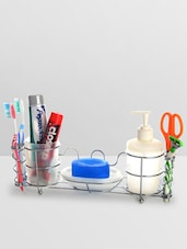 White Stainless Steel Stainless Steel Bathroom Organizer - By