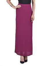 Solid Wine Polygeorgette Skirt - By