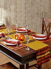 Multi Colour Multi Colour Table Linen (Place Mat Napkin Sets (12 Pcs)) - By