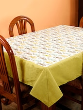 Dekor World Car Printed Green Table Cover (Pack Of 1) - By