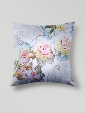 White Polyester Digital Printed Cushion Cover - By