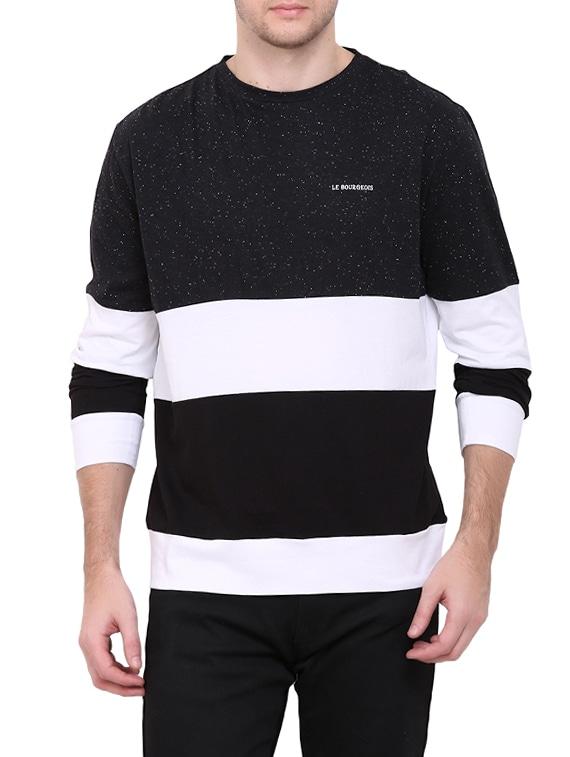 the best attitude f2f13 30765 monochrome color block t-shirt