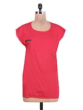 Red High Low Rayon Top - By