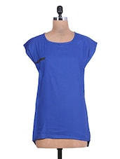 Cobalt Blue High Low Rayon Top - By