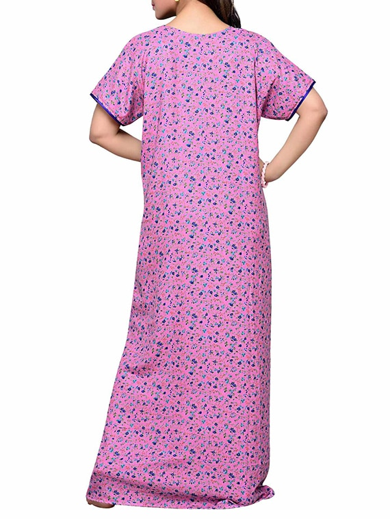 Buy Pink Cotton Feeding Nighty by Soulemo - Online shopping for ...