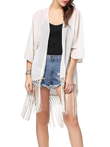 174254f4f Buy Off White Georgette Capes   Shrug by Color Cocktail - Online shopping  for Capes   Shrugs in India
