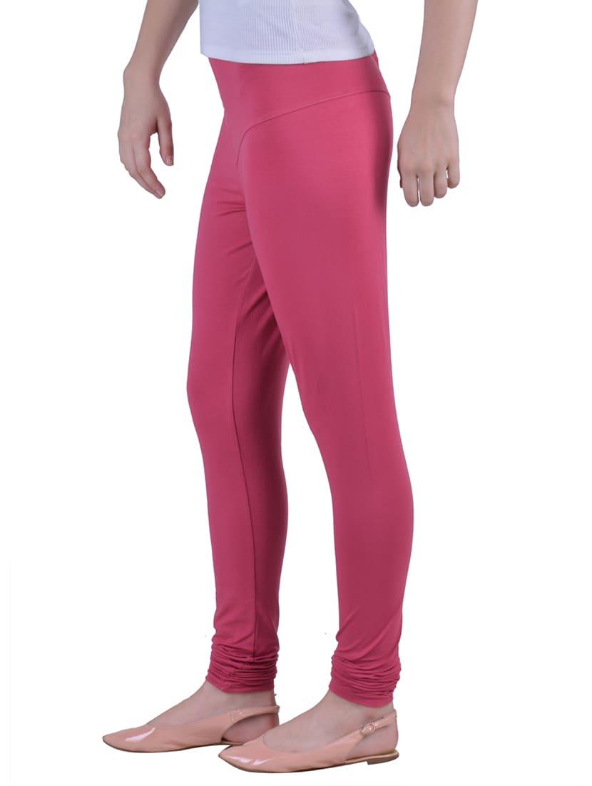 da6f58933fe5af Buy Pink Cotton Lycra Full Length Legging by Dollar Missy - Online shopping  for Leggings in India   12792229