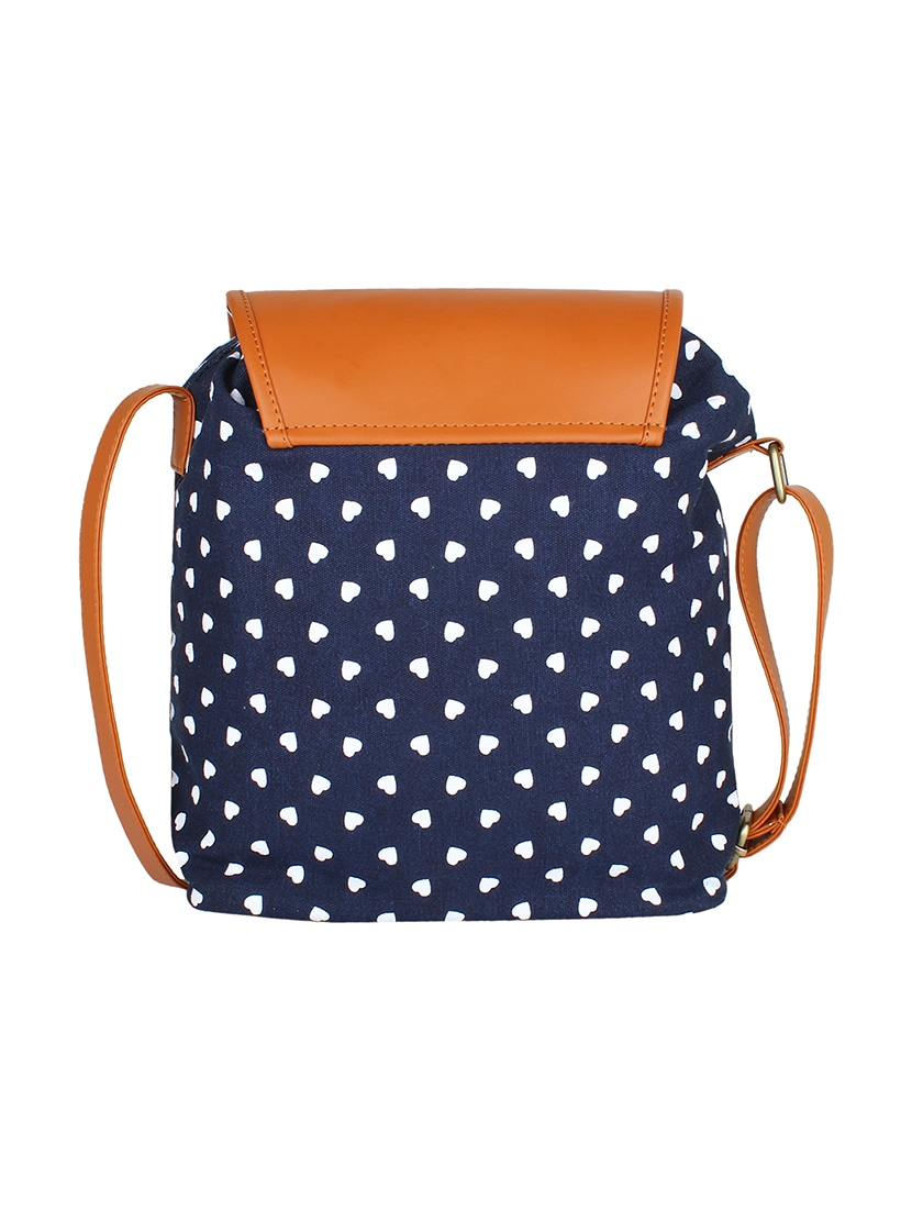 Buy Blue Canvas Sling Bag by Lychee Bags - Online shopping for Sling Bags in  India  c66cf2f9edaa0