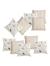 Dekor World Cream Delight Combo. Cushion Cover (Pack Of 10) - By