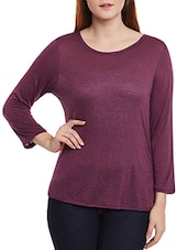 purple cotton regular tee -  online shopping for Tees