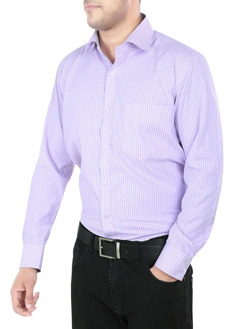 Buy Purple Cotton Formal Checked Shirt by Salwar Studio - Online shopping  for Formal Shirts in India  13d356022