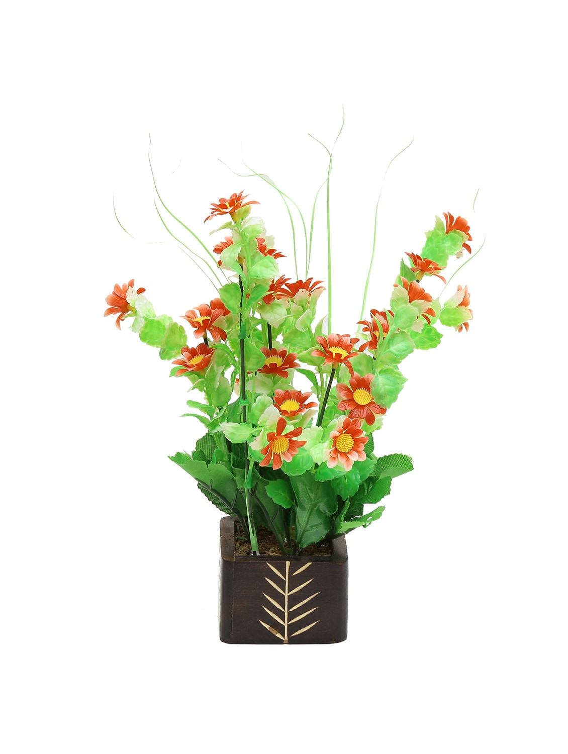 Random Artificial Potted Plant With Red Daisy Flowers By Online Ping For Indoor Plants In India 12818957