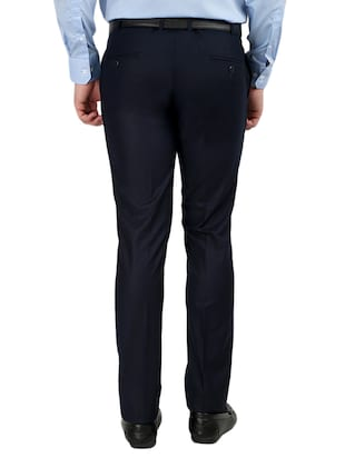 black and blue set of 2 flat front trousers formal trouser - 12823769 - Standard Image - 7