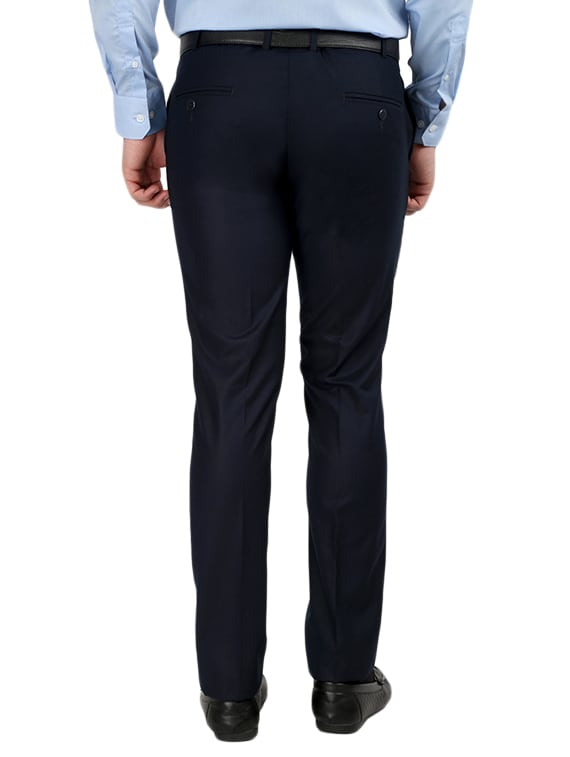 bf42b340bea ... set of 2 polyester flat front trousers formal trouser - 12823773 - Zoom  Image - 4