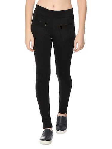 black polyester jeggings - 12833732 - Standard Image - 1