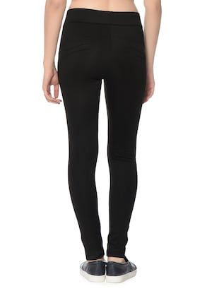black polyester jeggings - 12833732 - Standard Image - 4