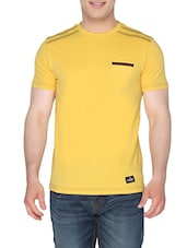 solid yellow cotton t-shirt -  online shopping for T-Shirts